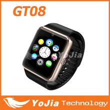 GT08 Smart Watch Clock Sync Notifier With Sim Card Bluetooth Connectivity for IOS iphone Android Smartwatch GT08