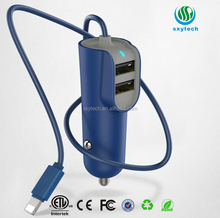 Portable Car Battery Charger Multi 2 Ports USB Mobile Vehicle Charger DC 5V 2.1A/2.4A/3.1A