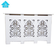 Modern wood carving Radiator Cover Cabinet Grill Style White MDF radiator heater cover