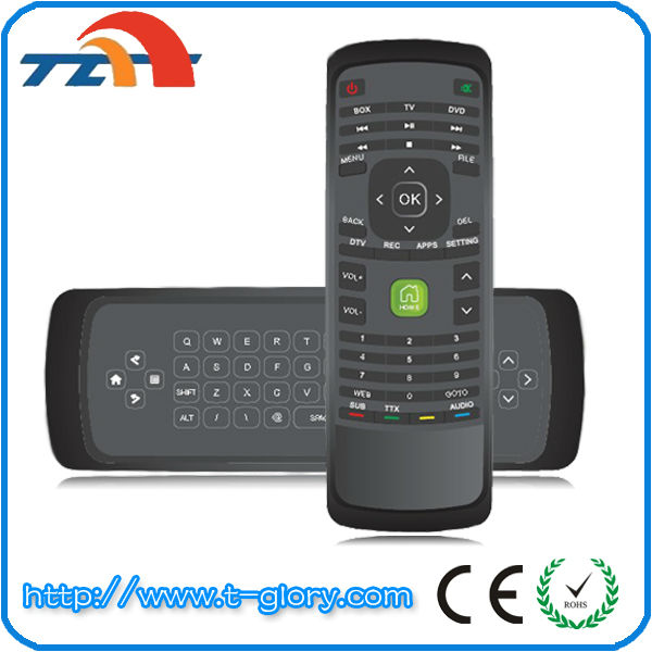 2.4g Google tv box remote control with keyboard CE ROHS