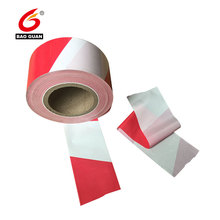 Non adhesive Customized size road safety High Strength Red and White Stripe Hazard PE Warning Barrier Tape