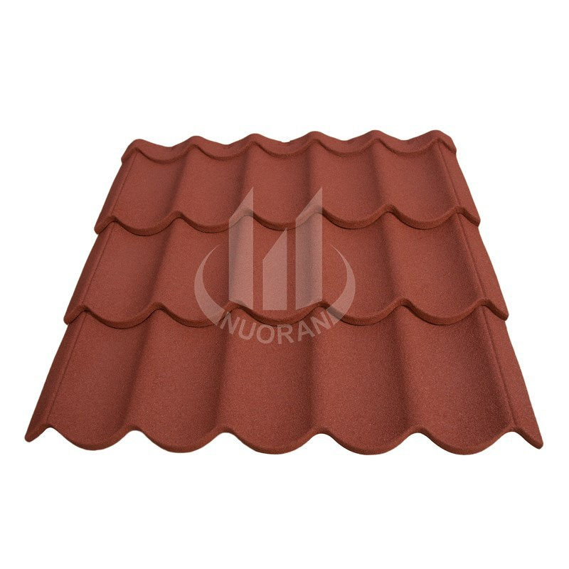 colorful stone chip coated steel roof tile / brick roof tile ,better than blue roofing shingles / construction accessories