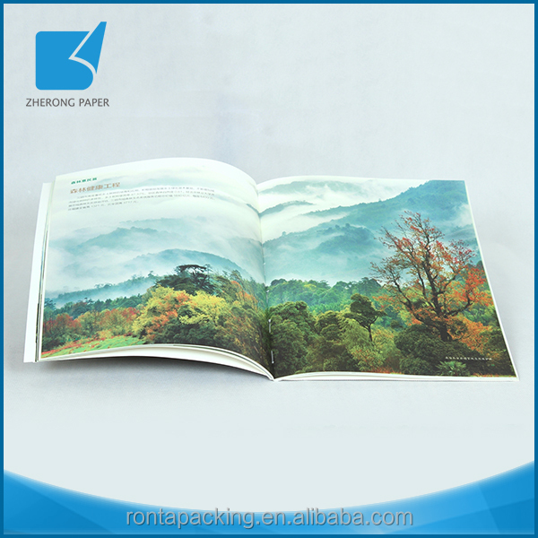 Wholesale best material embossing surface recycle paper met art magazine