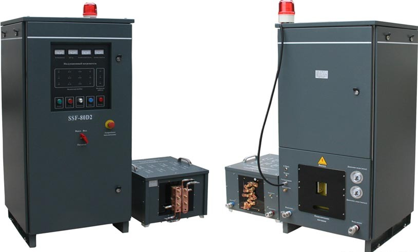 Portable induction quenching furnace for shaft hardening