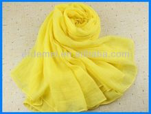 Plain one color viscose cotton shawl