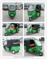 Bajaj style gas & oil powered tricycle for passenger for African market