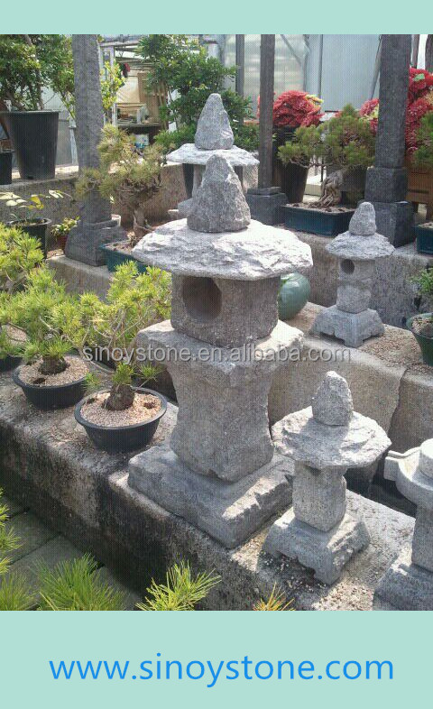 decorative stone lantern garden sculpture