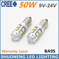 Hot Selling White 50W T4W BA9S Width Truck Light And LED Clearance Light Bulb Car