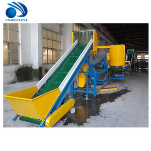 waste plastic recycling machine with two friction washer