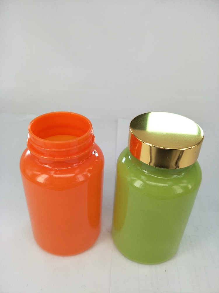Eco-friendly Colored PET Plastic Supplement Pill Bottle, Wide Mouth, 225mL