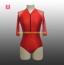 MBQ2016-2 Child lovely red competition lycra dance leotard