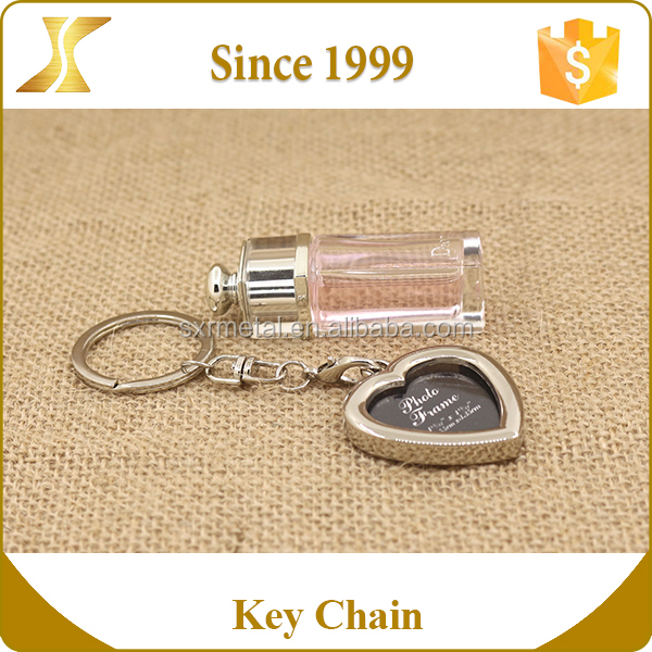 Insert Photo Picture Frame keyring cheap custom zinc alloy keychain