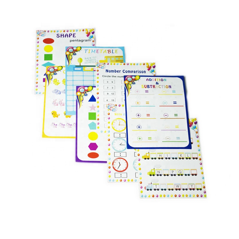 Reusable dry erase pockets With Dry Erase Markers & Erasers Perfect School/ Office Supplies