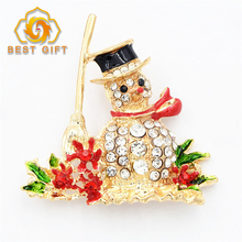 Christmas Gift Customized Shape Metal Stick Pin Brooch