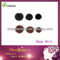 nylon hair bun & hair donuts for cheap synthetic hair buns