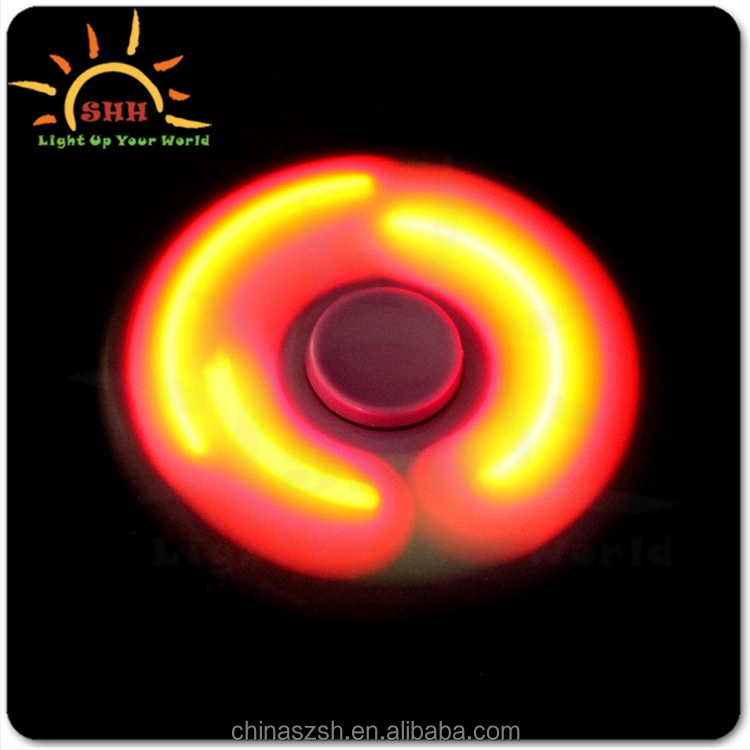Competitive price Factory price Low noise Multicolor Anti stress Adults Kids toys LED hand spinner toy