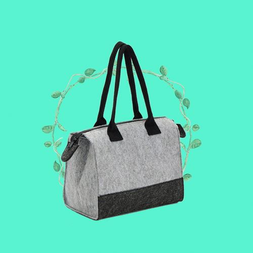 Candy color felt tote bags engraving logo
