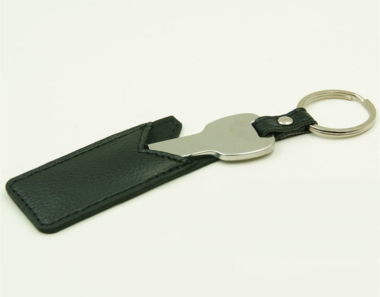 OEM Manufacture LOGO Printed Leather key usb flash drive Leather flash drive