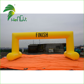 6M Strong PVC Inflatable Arch Finish Line For Advertising Event
