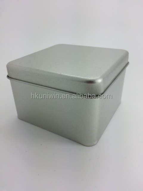 UTC003 - Ready Made Standard Silver Cube Sized Tin Cans with Lid