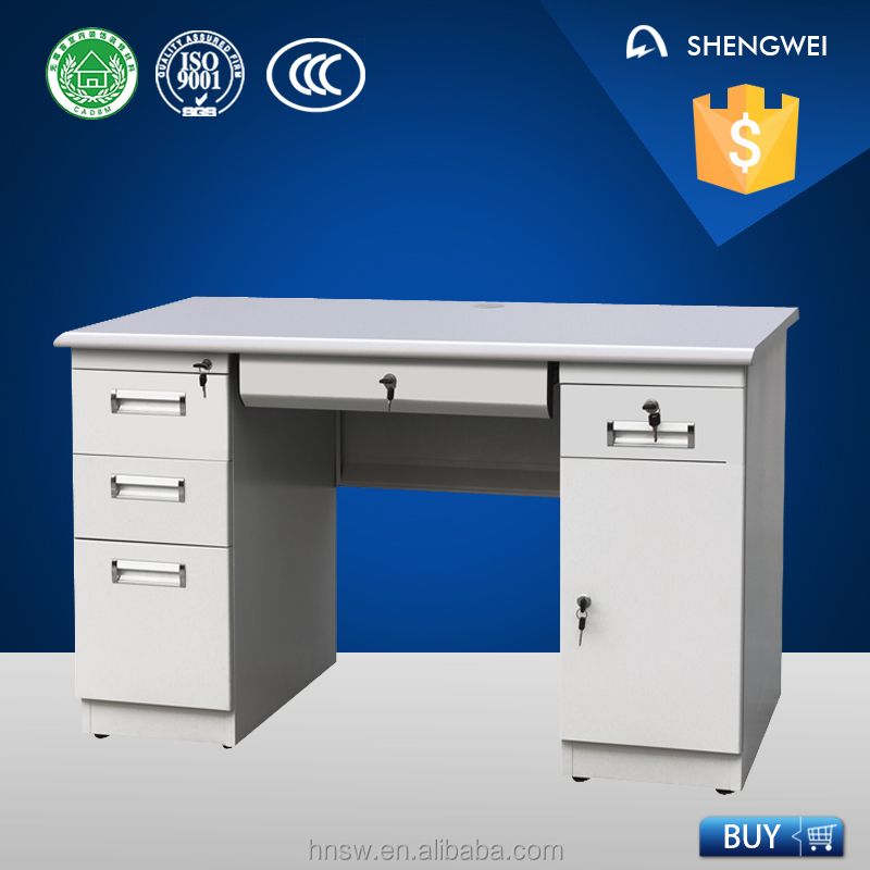 2016 luoyang shengwei steel cheap computer desk modern office table photos