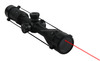 3-9x32 rifle scope/sight with red laser for airsoft/paintball gun