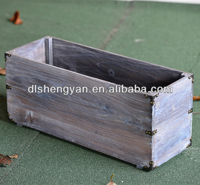 Large Rectangular Different Types Cedar Flower Pot/Wooden Planter
