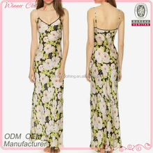 new fashion clothing garment simple ladies' floral printed Sexy ladies v-neck japanese style dresses