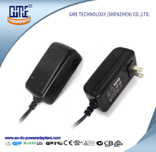 Low ripple CEC VI 12V 2A 12 Volt Power Adapter with flame-retardant pc shell
