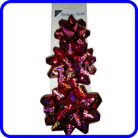 Glitter Star Bow/Holographic bow For Decoration Or Gift Packaging