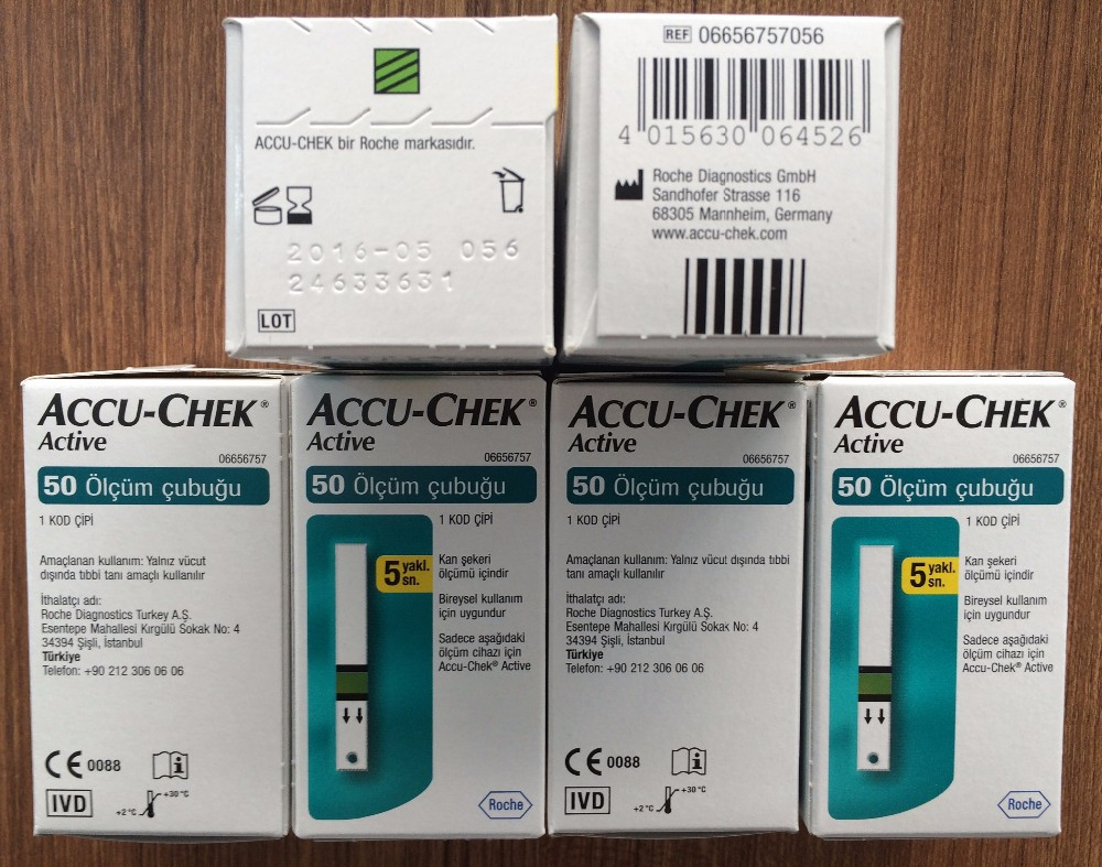 ACCU-CHEK ACTIVE GLUCOSE 50 TEST STRIPS