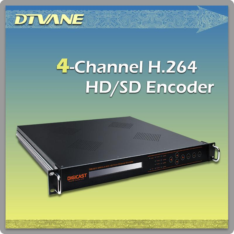 (DMB-8810) Digital TV Broadcasting Equipment MPEG-1 Layer2 ASI Multiplexer 4 Channels HD SDI to IP Encoder