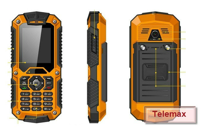 Water Dust Shock Proof Rugged Mobile Phone - New