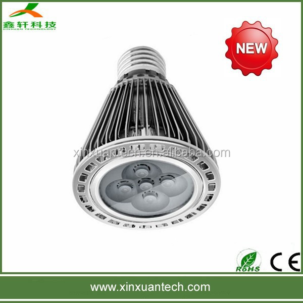 High power waterproof led par light IP65 par20 led bulb 5w gu10 lamp base