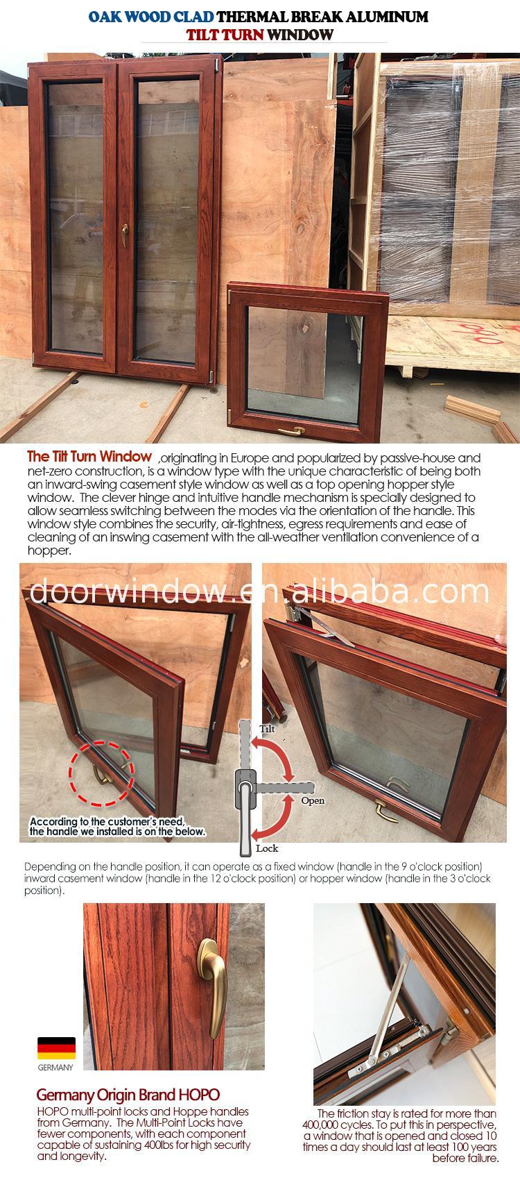 double pane window styles