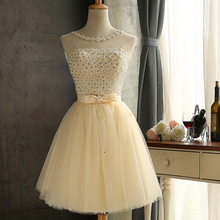 Js 24 Top Quality Cheap Party Champagne Wedding Prom Bridesmaid Dress On Hot Sell 042