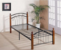 Unfinish wood furniture carved wooden legs single bed
