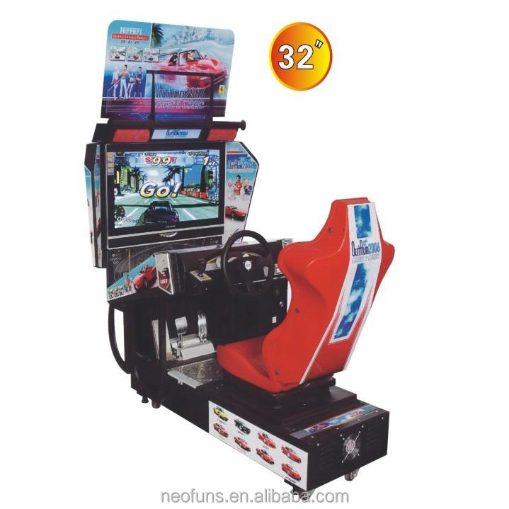 Out Run Coin Operated Simulator Arcade Video Driving Motorcycle Car Racing Game Machine (NF-S09)