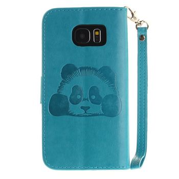 for S9 S9plus note 9  Case Luxury Emboss Panda Stand Flip Wallet for Samsung Galaxy  S10 lite note10 Coque shell