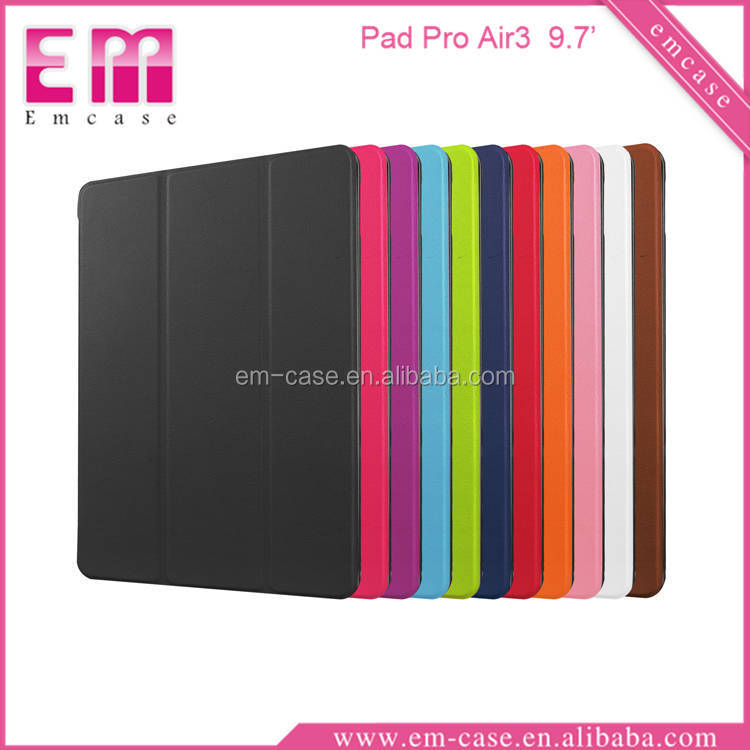 Solid Color PU Leather Flip Case For iPad Air3 PU Stand Case For iPad Pro