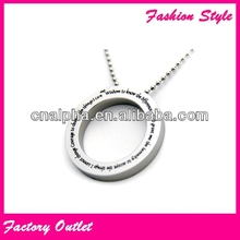 round sterling silver pendant bezel