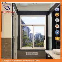 New design 2017 french aluminium sliding window with powder coated white color