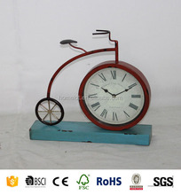 New Style Metal Bicycle Square Antique Home Decor Unique Table Clocks