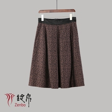 Fancy skirt in polyester jacquard fabric with stretch for 2017 new style