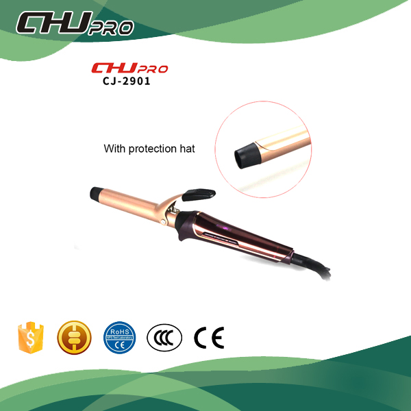 color golden teflon coated best hair curling iron black hair-bling bling