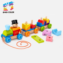 2016 wholesale kids wooden building blocks train set,hot sale wooden building blocks train set W05C037