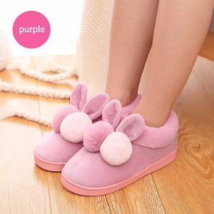 Room slipper manufacturers wholesale household cute animal shape women soft plush slippers