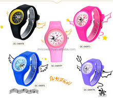cheap silicone jelly children wrist mickey mouse watch