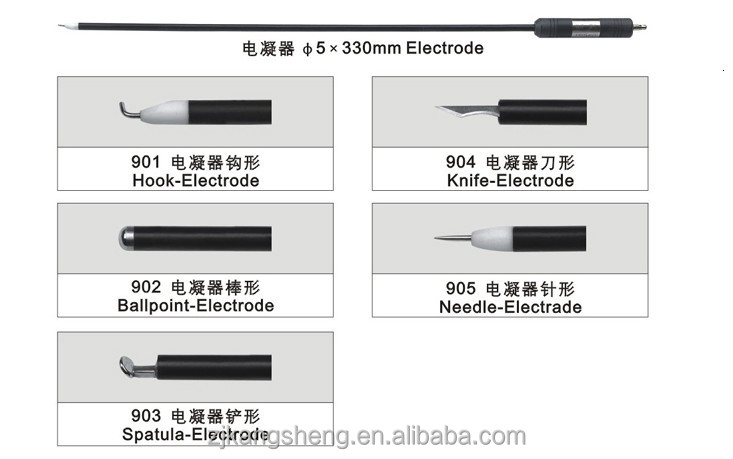 Different types electrode instruments of electric coagulation China supplier/electrical tools and instruments