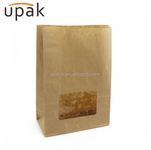 Take away roast chicken paper bag with window